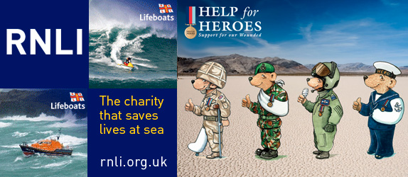 RNLI and Help for Heroes Charities